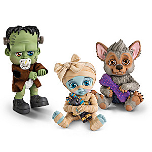 """""""Li'l Monsters"""" Poseable Baby Dolls With Unique Accessories"""
