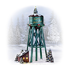 """Happy Holidays"" Towers For HO-scale Train Display"