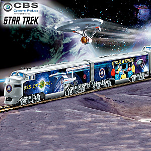 STAR TREK Illuminated Train Collection With Spock Car