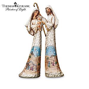 "Thomas Kinkade's ""Elegant Blessings"" Nativity Figurines"