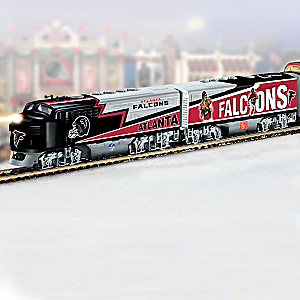 """Atlanta Falcons Express"" Illuminated Electric Train"