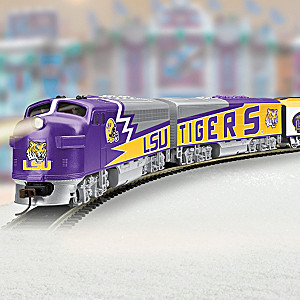 HO-Scale LSU Tigers Illuminated Electric Train