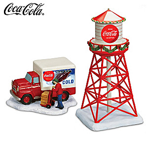 COCA-COLA Christmas Railroad Accessory Collection