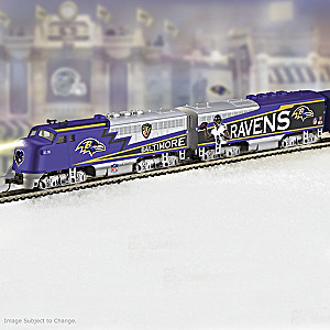 NFL-Licensed Baltimore Ravens Electric Train Collection