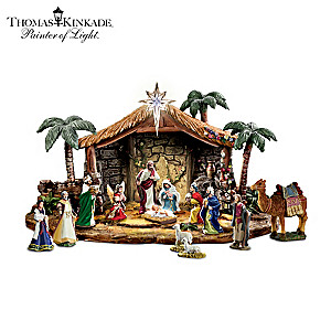 Thomas Kinkade Magnificent Blessings Nativity Collection