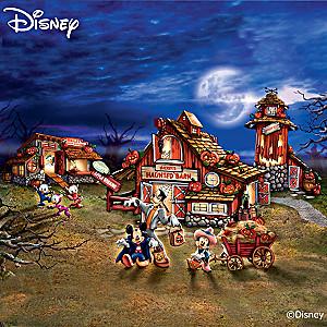 """Illuminated """"Disney Halloween Harvest Village"""" Collection"""