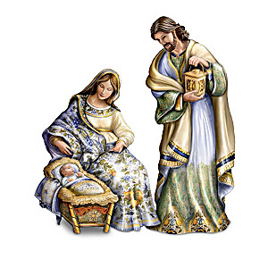 The Silent Night Tuscan-Style Porcelain Nativity Collection
