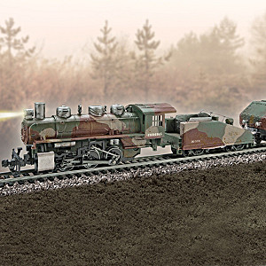 "HO-Scale ""WWII Armored Express"" Illuminated Electric Train"