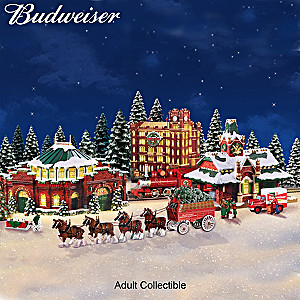 Budweiser Illuminated Holiday Village Collection