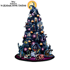 the nightmare before christmas tabletop tree collection - The Nightmare Before Christmas Decorations