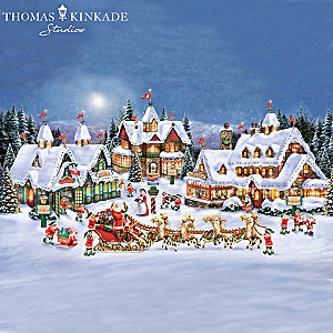 "Thomas Kinkade Illuminated ""North Pole Village"" Collection"