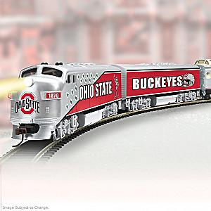 HO-Scale Ohio State Buckeyes Illuminated Electric Train
