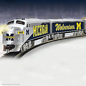 HO-Scale University Of Michigan Illuminated Electric Train