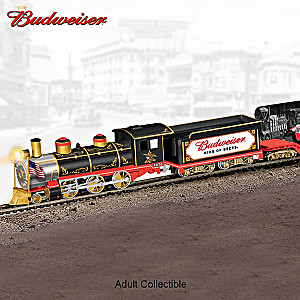 """""""Budweiser Delivers Through The Years"""" Illuminated Train"""