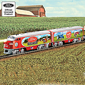 """Ford Classic Tractors Express"" Illuminated Electric Train"