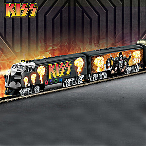 """KISS """"Rock 'N Roll Express"""" Illuminated Electric Train"""