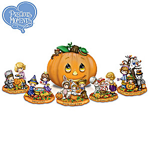 Precious Moments Halloween Sculpture Collection With Lights