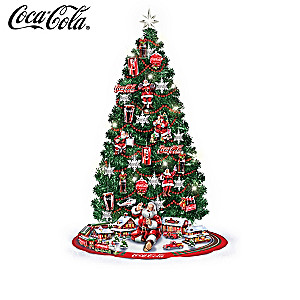 COCA-COLA Illuminated 3-Foot Christmas Tree Collection