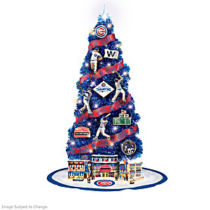 MLB Chicago Cubs 2016 World Series Champions Christmas Tree Collection 5f12eb095e3