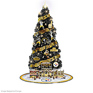 Steelers Lighted Christmas Tree Collection With Scoreboard