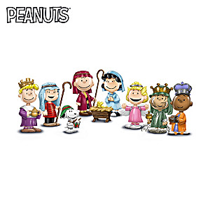 the peanuts christmas pageant porcelain figurine collection - Peanuts Christmas