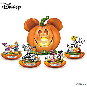 "Disney ""Spooktacular Halloween"" Lighted Figurine Collection"