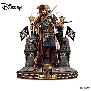 Disney Pirates Of The Caribbean Captains Sculptures