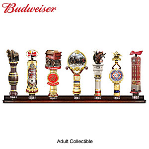 Budweiser Vintage-Style Sculpted Tap Handles With Display