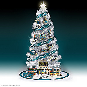eagles super bowl lii lighted christmas tree collection