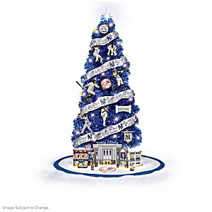 New York Yankees Illuminated Christmas Tree Collection