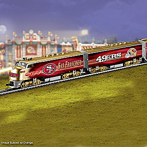 San Francisco 49ers Electric Train With Lighted Locomotive
