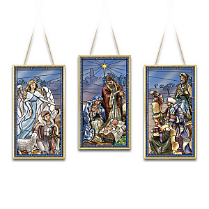 O Glorious Night Stained Glass Nativity Collection
