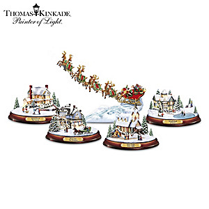Thomas Kinkade Lighted Musical Holiday Sculpture Collection