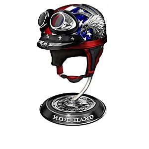 """American Free Spirit"" Miniature Motorcycle Helmet Collection"