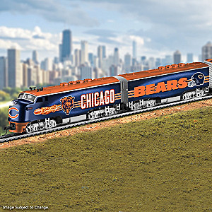 Chicago Bears Electric Train With Lighted Locomotive