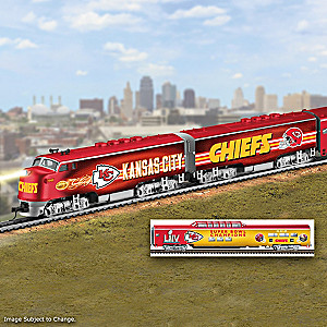 Kansas City Chiefs Electric Train With Lighted Locomotive
