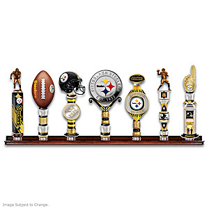 Steelers Vintage-Style Sculpted Tap Handles With Display