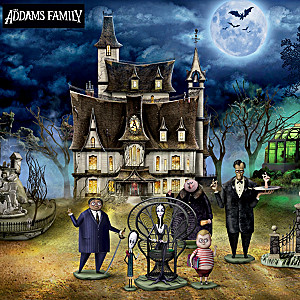 The ADDAMS FAMILY Illuminated Halloween Village Collection