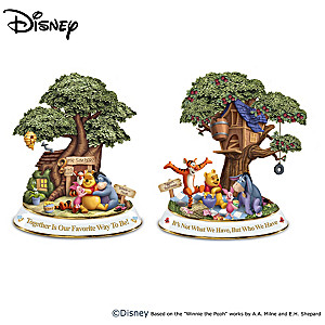 "Disney Winnie The Pooh ""Hundred Acre Wood"" Sculptures"
