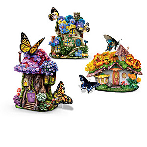 """""""Nature's Wonders"""" Butterfly Garden Village Collection"""