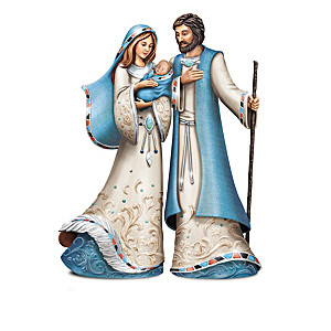 Nativity Collection With Real Turquoise Embellishments