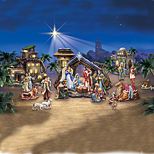 Miracle Of Bethlehem Illuminated Nativity Village Collection