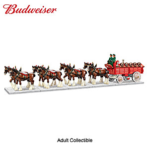 Budweiser Clydesdales Porcelain Sculpture Collection