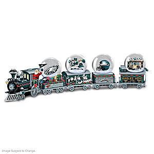 Philadelphia Eagles Miniature Snow Globe Train Collection