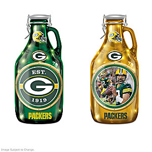 Green Bay Packers Illuminating Glass Growler Collection