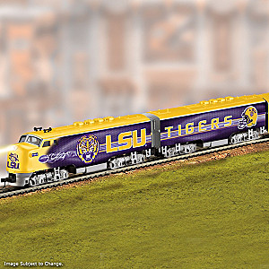 LSU Train With 2019 Football National Champions Car