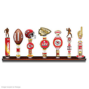 Chiefs Super Bowl LIV Vintage-Style Tap Handles With Display