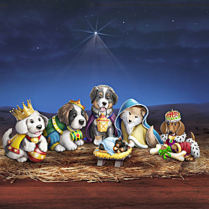 Happy Howl-idays Puppy Pageant Nativity Figurine Collection