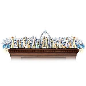 """Miracle of Christmas"" Illuminatied Garland Nativity"