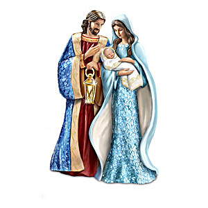 """Holiest Night"" Glass Mosaic Nativity Figurine Collection"